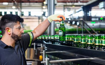 Mythos beer production line