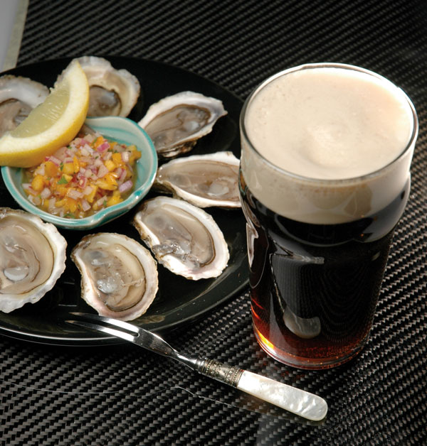 Stout and seafood